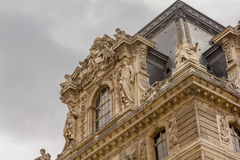 Szczegół muzeum w louvre fotografia royalty free