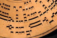 szczegół muzyki rejestru stary koło Obraz Stock