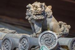 Szczegół na dachu Ninomaru pałac przy Nijo kasztelem w Kyoto Fotografia Royalty Free