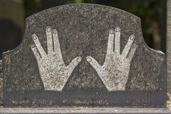 Szczegół nagrobek od Praga Żydowskiego cmentarza, republika czech zdjęcia royalty free