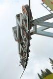 Szczegół narciarskiego dźwignięcia koła Obrazy Royalty Free
