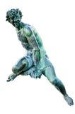 Szczegół Neptune fontanna na białym tle, Florencja Obraz Royalty Free