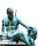 Szczegół Neptune fontanna na białym tle, Florencja Zdjęcia Royalty Free