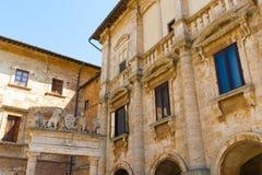 Szczegół Nobili-Tarugi pałac w Montepulciano, Włochy Fotografia Stock