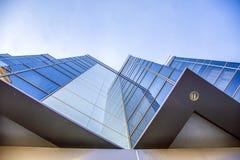 Szczegół nowożytna budynek powierzchowność, odbicie i Obraz Stock