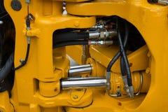 Szczegół nowy hydrauliczny buldożeru tłok Obrazy Royalty Free
