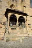Szczegół OBERE PFARRE kościół w Bamberg, Niemcy Obrazy Royalty Free