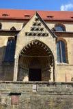 Szczegół OBERE PFARRE kościół w Bamberg, Niemcy Fotografia Stock