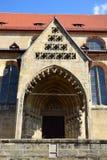 Szczegół OBERE PFARRE kościół w Bamberg, Niemcy Zdjęcie Royalty Free