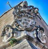 Szczegół od ściany Watykański Rzym, Włochy zdjęcie stock