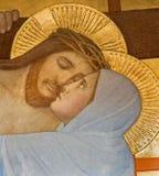 Szczegół od świadkowania przecinająca scena Wiedeń, Jezus i Mary - Zdjęcia Stock