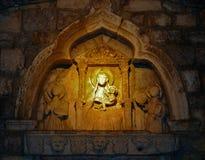Szczegół od Kotor ścian przy nocą zdjęcia royalty free