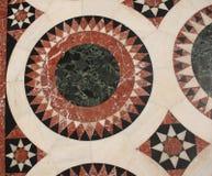 Szczegół od podłogowej mozaiki w kościół Święty Sepulchre, Chrystus grobowiec w Starym mieście Jerozolima, Izrael obraz royalty free