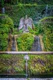 Szczegół od Sto fontann w willa d ` Este, Tivoli, Lazio, środkowy Włochy Zdjęcia Royalty Free