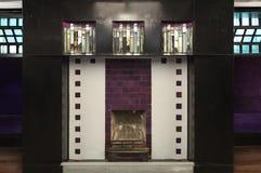 Szczegół od wnętrza Wierzbowi Herbaciani pokoje, Sauchiehall St, Glasgow projektował Charles Rennie Mackintosh dla Kate Cranston fotografia royalty free
