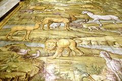 Szczegół od wygnania od ogródu rajskiego w Capri kościół zdjęcie royalty free