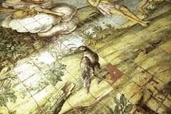 Szczegół od wygnania od ogródu rajskiego w Capri kościół zdjęcia royalty free