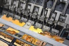 Szczegół odsadzka druku książki zaszywania maszyna Fotografia Stock