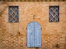 Szczegół okno antyczny Toskański budynek Obraz Royalty Free