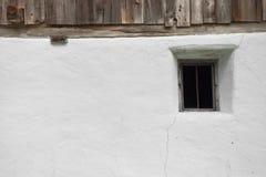 Szczegół okno od halnego cowshed w Ahrntal, Włochy Obrazy Royalty Free