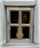 Szczegół okno typowy ukraiński antyka dom Fotografia Royalty Free