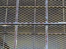 Szczegół okno w zaniechanym przemysłowym budynku fotografia royalty free