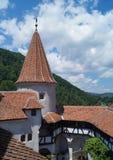 Szczegół Otrębiasty kasztel, także zna jako Dracula ` s kasztel, Brasov, Transylvania, Rumunia fotografia royalty free