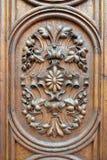 Szczegół ozdobny drzwi w starym grodzkim Gradec w Zagreb zdjęcie stock
