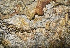 Szczegół pękająca łyszczyk skała fotografia stock