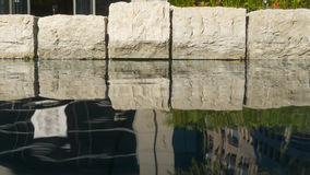 Szczegół pływacki basen z czystą wodą Obraz Stock