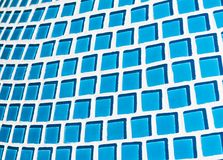 Szczegół piękna abstrakcjonistyczna ceramiczna mozaika ozdabiał budynek Wenecka mozaika jako dekoracyjny tło Zdjęcie Stock