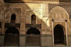 Szczegół piękna dachówkowa mozaiki dekoracja przy fezem, Mo Zdjęcie Stock