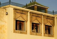 Szczegół piękna dachówkowa mozaiki dekoracja przy fezem, Mo Obrazy Stock