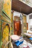 Szczegół piękna dachówkowa mozaiki dekoracja przy fezem, Mo Obraz Stock