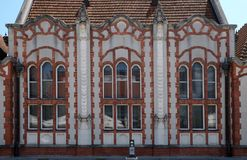 Szczegół piękny sztuki Nouveau dom w Cakovec, Chorwacja Zdjęcie Stock