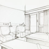 Szczegół pokój hotelowy Zdjęcia Stock