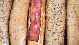 Szczegół różnorodne chlebowe rolki Zdjęcie Royalty Free
