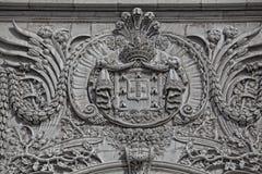 Szczegół Rua Augusta łuk, kamień triumfalny jak L w Fotografia Royalty Free