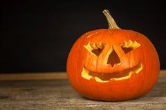 Szczegół rzeźbiąca bania Halloweenowy świętowanie Tradycyjna dekoracja bania Obrazy Royalty Free