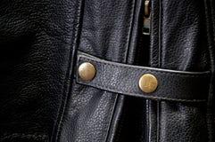 Szczegół rzemienna motocykl kurtki patka zdjęcie royalty free