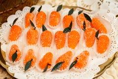 Szczegół słodki stół na ślubu lub wydarzenia przyjęciu Obraz Stock