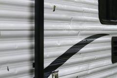 Szczegół sala szkoda na rekreacyjnym pojazdzie obraz stock