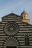 Szczegół Sant ` Andrea kościół w Levanto italy Liguria Fotografia Stock