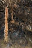 Szczegół sopleniec i stalagmit w Aggtelek zawalamy się obrazy stock