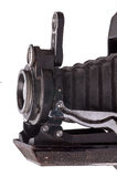 Szczegół stara kamera na bielu Zdjęcie Stock