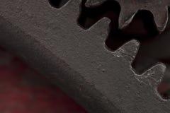 Szczegół stary żelazny gearwheel obrazy stock