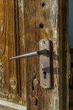 Szczegół stary drzwiowy whit kędziorek Zdjęcia Royalty Free