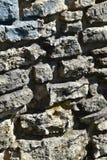 Szczegół stary kamienia ogrodzenie obrazy royalty free