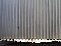 Szczegół Stary Panwiowy żelazo dach obrazy stock