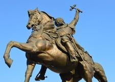 Szczegół: statua Michael Odważny Bucharest, (Mihai Viteazul) obrazy royalty free